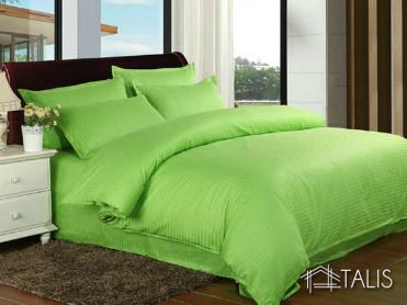 Lenjerie cu elastic 160x200cm Irissa Verde Lime (Bumbac 100%)