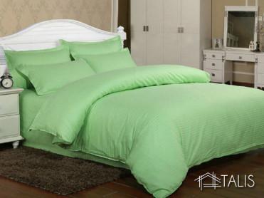 Lenjerie cu elastic 160x200cm Irissa Verde Pal (Bumbac 100%)