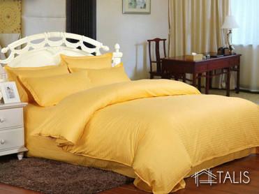Lenjerie cu elastic 160x200cm Irissa Mustard (Bumbac 100%)