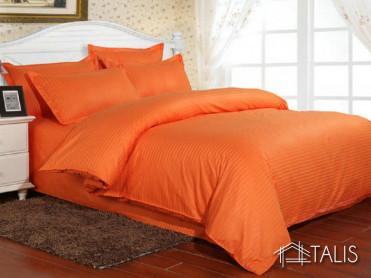 Lenjerie cu elastic 160x200cm Irissa Orange (Bumbac 100%)