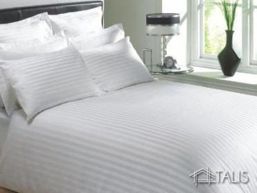 Lenjerie cu elastic 180x200cm Irissa Alba (Bumbac 100%)