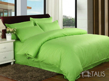 Lenjerie cu elastic 180x200cm Irissa Verde Lime (Bumbac 100%)