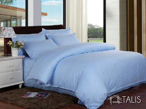 Lenjerie cu elastic 180x200cm Irissa Bleu (Bumbac 100%)