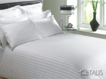 Lenjerie cu elastic 140x200cm Irissa Alba (Bumbac 100%)