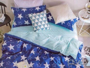 Lenjerie Starry Albastru (Bumbac Satinat)