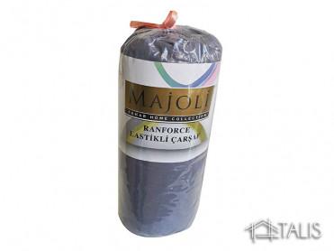 Cearceaf cu Elastic si 2 fete de perna Cobalt 160x200cm (Bumbac 100%)