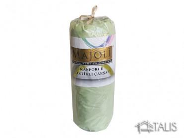 Cearceaf cu Elastic si 2 fete de perna Verde Pal 180x200cm (Bumbac 100%)