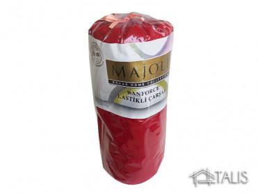 Cearceaf cu Elastic si 2 fete de perna Rosu Grena 180x200cm (Bumbac 100%)
