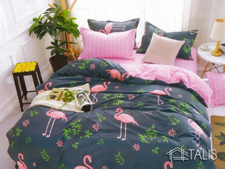 Lenjerie Flamingo Roz (Bumbac Satinat)