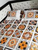Lenjerie Mozaique Galben (Bumbac Poplin)