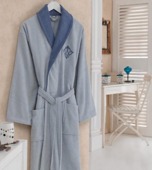 Halat de baie pentru el Daily Albastru (Bumbac 100%)