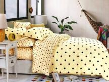 Lenjerie Yellow Dots (Bumbac Creponat)