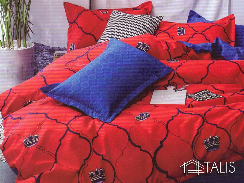 Lenjerie Red & Blue (Bumbac Satinat)