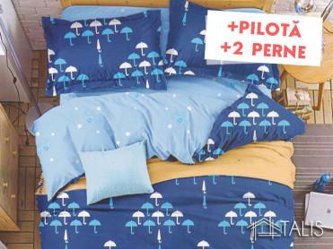 Pachet Lenjerie + Pilota + Perne Umbrella (Bumbac Satinat)