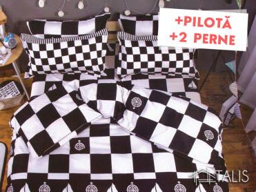 Pachet Lenjerie + Pilota + Perne Chess (Bumbac Satinat)