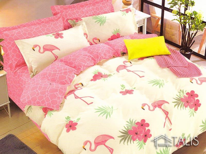 Lenjerie Flamingo Galben (Bumbac Satinat)