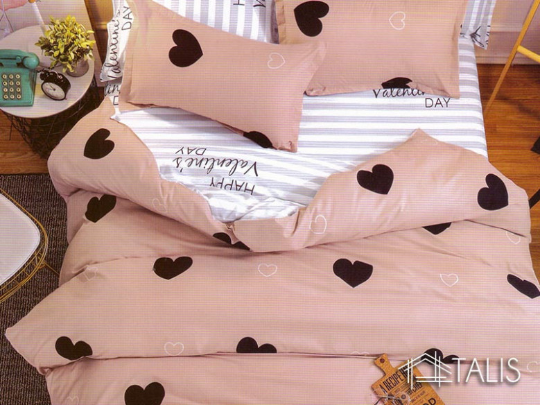 Lenjerie Cream Heart (Bumbac Satinat)