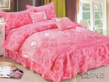 Lenjerie Pink Rose 6 Piese (Finet Satinat)