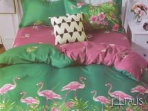 Lenjerie Flamingo Verde (Bumbac Satinat)