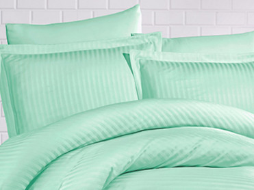 Set 2 Fete de Perna 50x70cm Evelyn Water Green (Satin)
