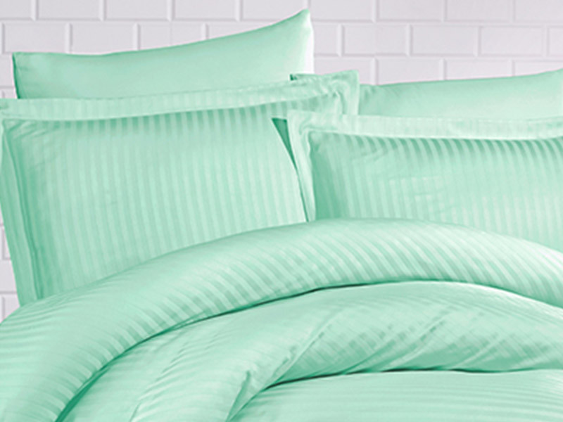 Set 2 Fete de Perna 70x70cm Evelyn Water Green (Satin)