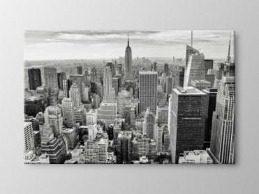 Tablou Canvas New York Alb Negru
