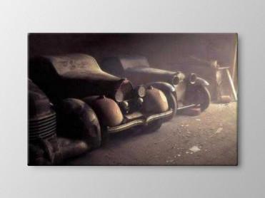 Tablou Canvas Masini in Garaj