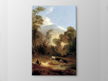 Tablou Canvas Peisaj cu Pastori