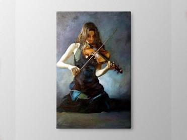 Tablou Canvas Fata cu Vioara