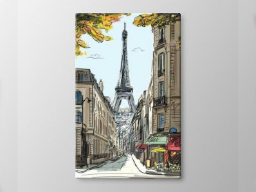 Tablou Canvas Schita Turnul Eiffel