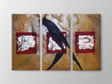 Tablou Canvas 3 Piese Silueta