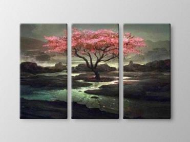 Tablou Canvas 3 Piese Blossom Tree