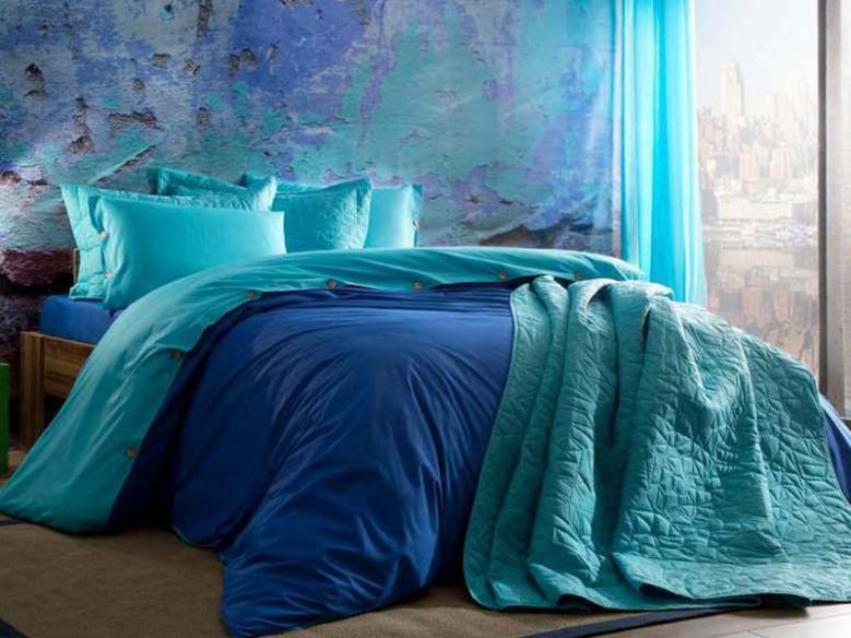 Lenjerie cu elastic Colorful Albastru (Bumbac 100%)
