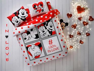 Lenjerie Copii Minnie & Mickey Dottie (Bumbac 100%)