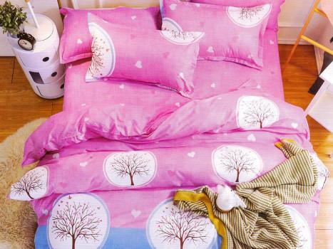 Lenjerie Pink Tree (Bumbac Satinat)