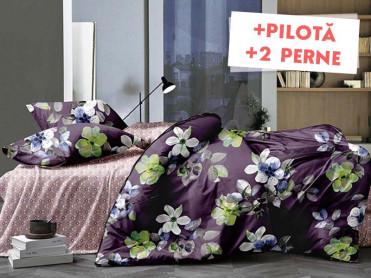 Pachet Lenjerie + Pilota + Perne Mindful (Bumbac Satinat)