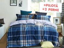 Pachet Lenjerie + Pilota + Perne Blue Square (Finet)