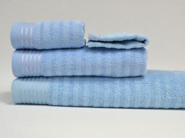 Set 4 Prosoape, Diverse Marimi, Bukle Light Blue (Bumbac 100%)