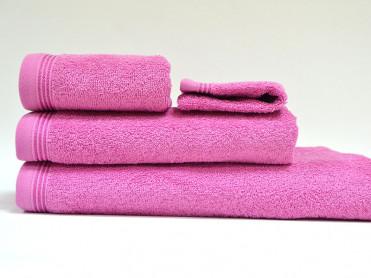 Set 4 Prosoape, Diverse Marimi, Excelence Dark Pink (Bumbac 100%)