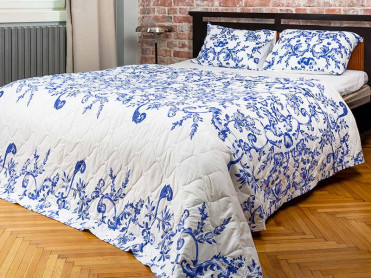 Cuvertura Matlasata, 3 Piese, Royal Blue (Bumbac 100%)