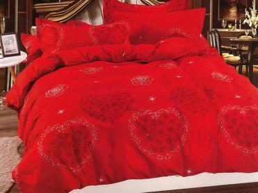 Lenjerie Rose Heart (Bumbac Satinat)