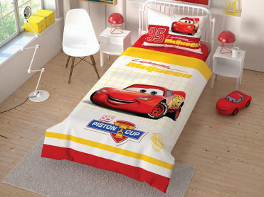 Lenjerie Copii Cars Piston Cup 2 (Bumbac 100%)