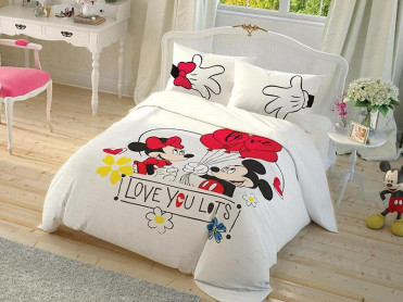 Lenjerie Copii Mickey Love you Lots (Bumbac 100%)