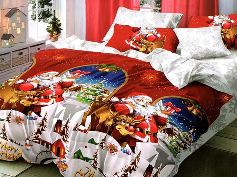 Lenjerie Santa Reindeer 6 Piese (Finet)