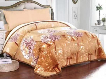 Patura Pufoasa Dandelion, cu blanita, 200x230 cm